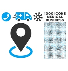Geo Targeting Icon with 1000 Medical Business vector image