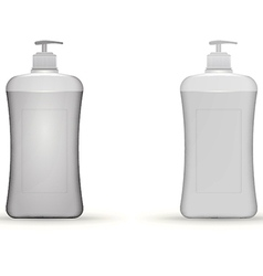 gray dispenser pump bottles mock up vector image