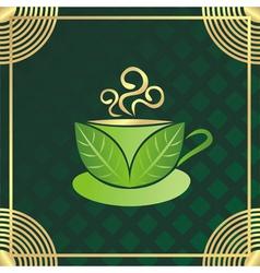 Green tea cup vector image