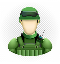 Human template soldier vector