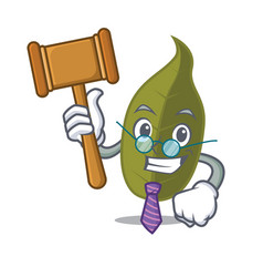 Judge bay leaf mascot cartoon vector