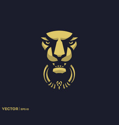 Lion door knocker vector