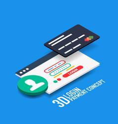 Login username and password internet vector