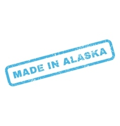 Made In Alaska Rubber Stamp vector image