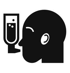man insulin spray icon simple style vector image