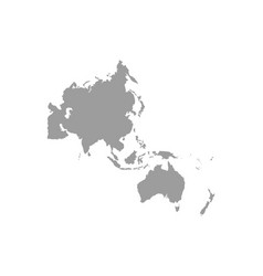 Map asia pacific vector