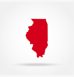 map of the us state of illinois vector image