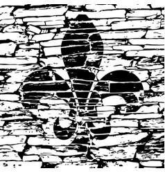 Mardi gras simbol - fleur de lis grunge vector