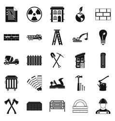material icons set simple style vector image