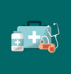 medical emergency equipment health vector image