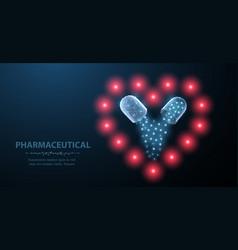 Medicine for heart abstract polygonal vector