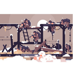 military training camp vector image