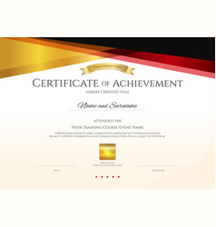 modern certificate template with elegant border vector image
