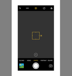 modern smartphone camera application vector image