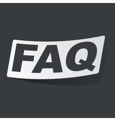 Monochrome FAQ sticker vector