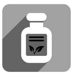 Natural Drugs Flat Square Icon with Long Shadow vector