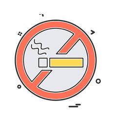 no smoking icon design vector image