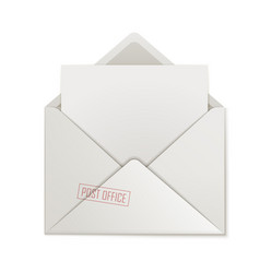 Open envelope clean paper isolated vector
