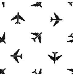 Passenger airliner pattern seamless black vector