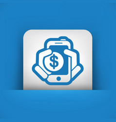 Phone cost icon vector