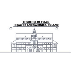 Poland - jawor and swidnica churches of peace vector