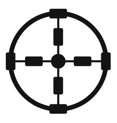 Police aim radar icon simple style vector