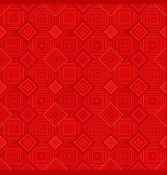 Red abstract seamless diagonal square pattern vector