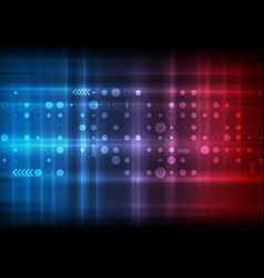 red and blue technology sci-fi abstract background vector image