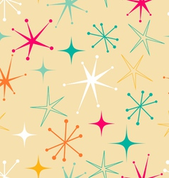 retro starry pattern vector image