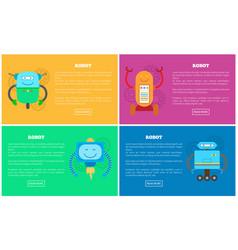 Robot collection websites vector