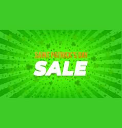 saint patricks day sale vector image