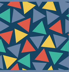 Seamless pattern triangles randomly placed vector