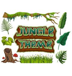 Set jungle theme vector