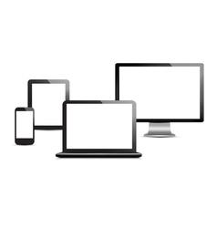 Set of computer devices vector