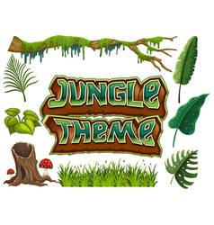 Set of jungle theme vector