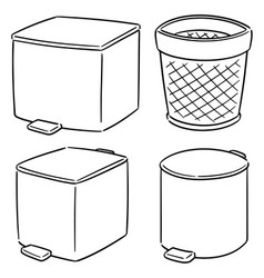set of recycle garbage vector image