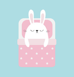 sleeping rabbit bunny bapet animal collection vector image