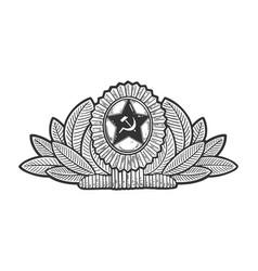 Soviet military cockade sketch vector