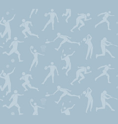 Sport pattern seamless backdrop people icon vector