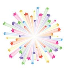 Stars explode vector