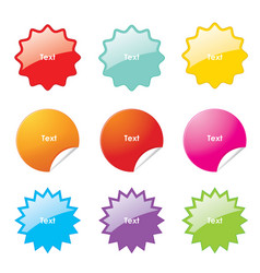Sticker rounded corner banner sale vector