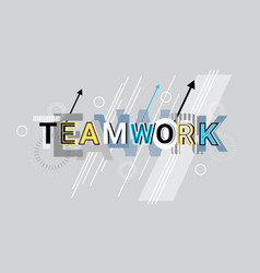 teamwork business team cooperation creative word vector image