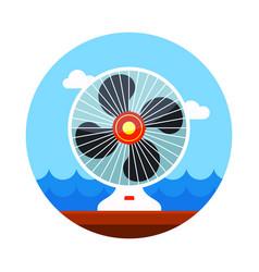 ventilator icon summer vacation vector image