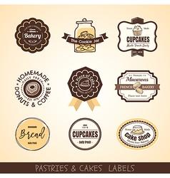 Vintage bakery logo labels and frames vector