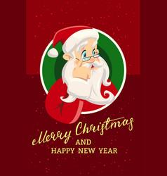 vintage christmas greeting card vector image