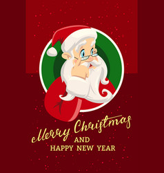 Vintage christmas greeting card with vector