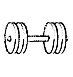 weight lifting device icon vector image