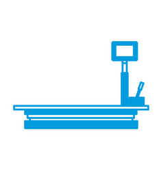 weight scale delivery boxes equipment cargo vector image