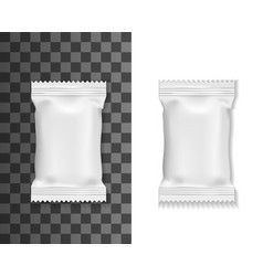White pack mockup sachet or pouch bag vector