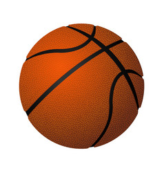 basketball spherical inflated leather ball vector image vector image